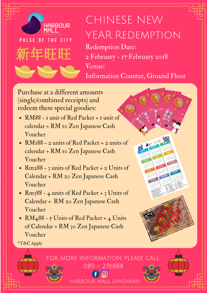 Harbour Mall Sandakan Chinese New Year Redemption