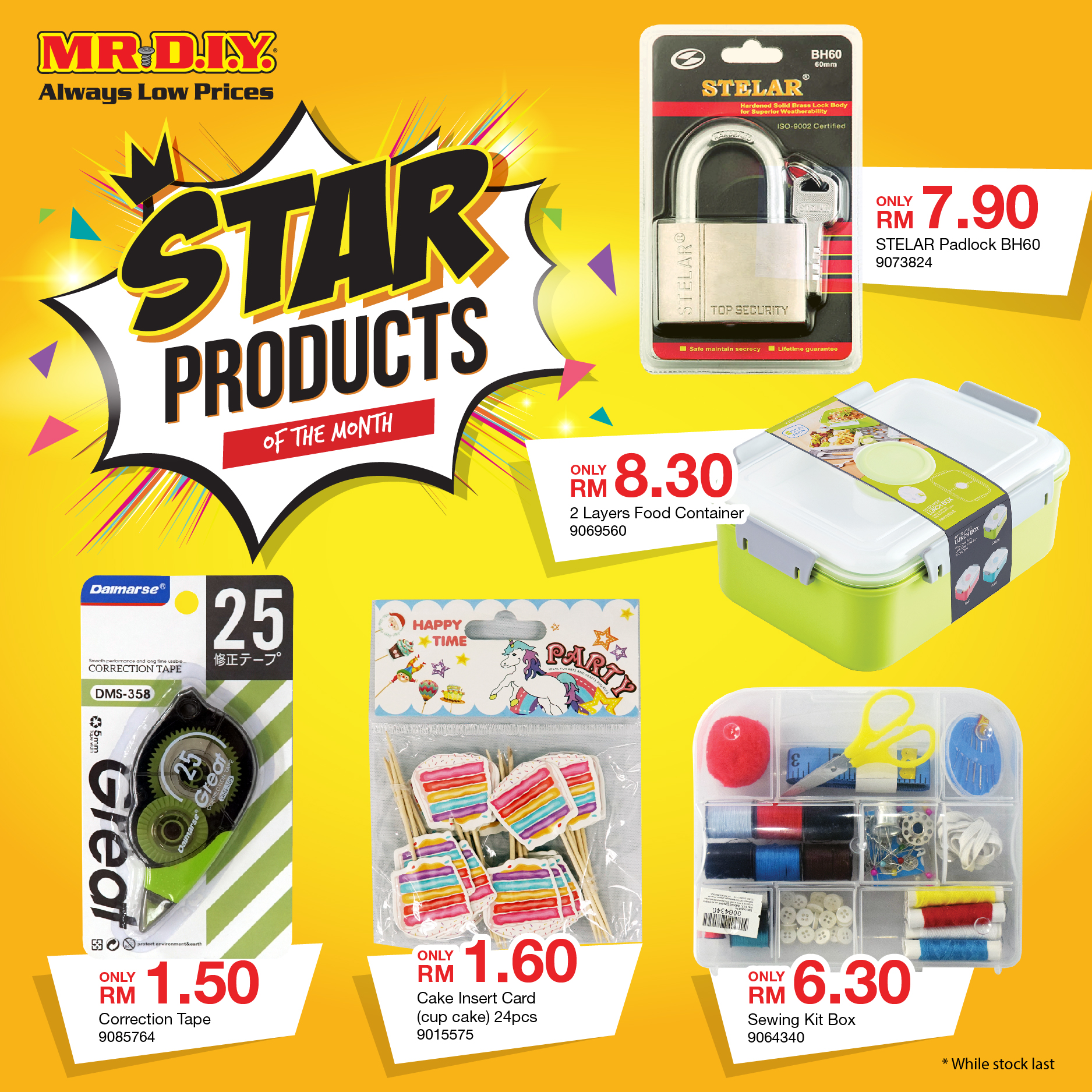 MR. D.I.Y: Star Products Of The Month