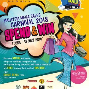 Malaysia Mega Sales Carnival (1 June – 31 July 2018)