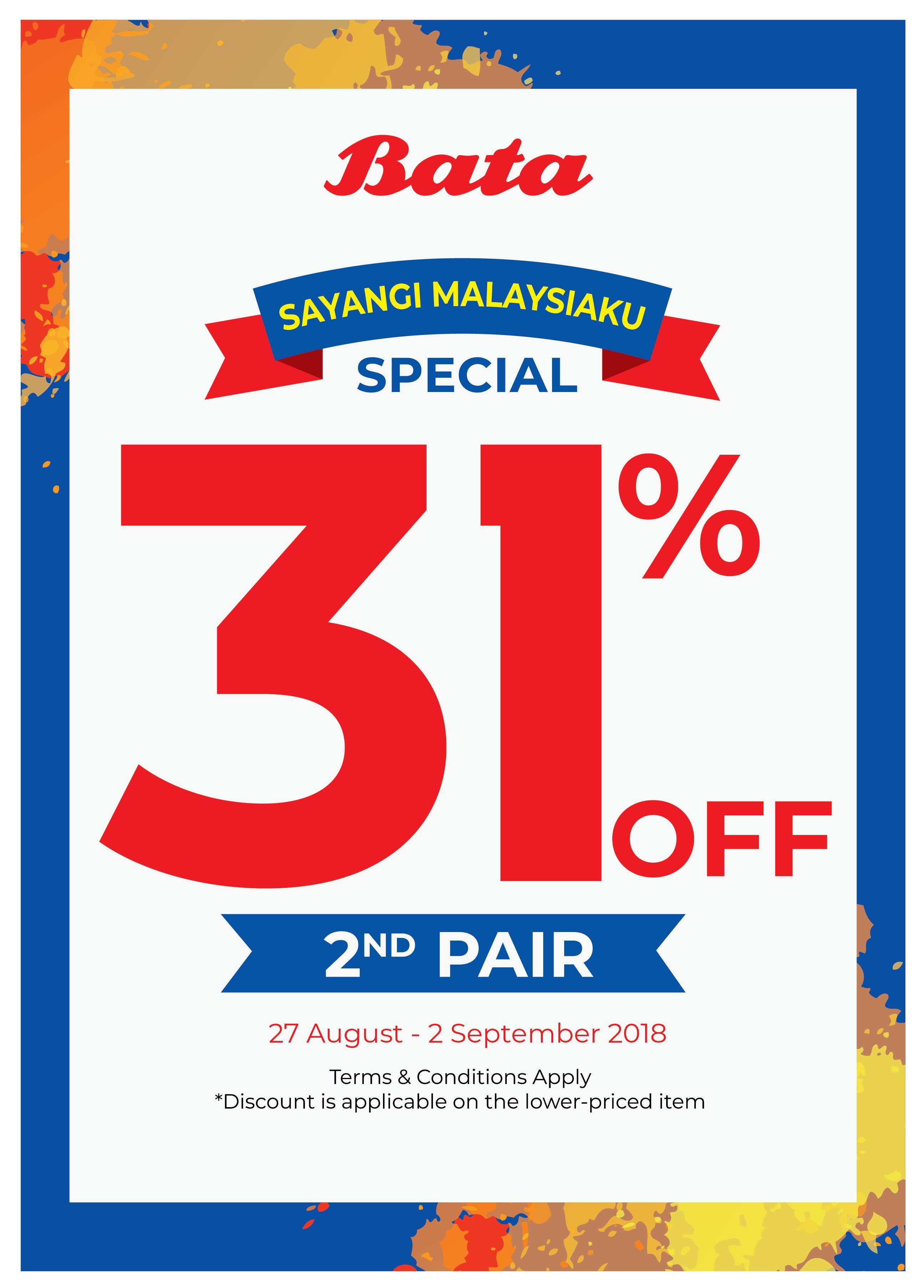 BATA Sayangi Malaysiaku – National Day Promo