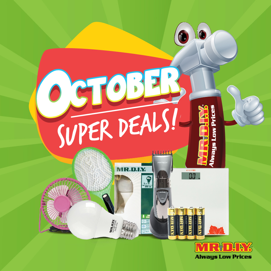 MR. D.I.Y October Super Deals 2018