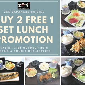 ZEN Japanese Cuisine October Promotion