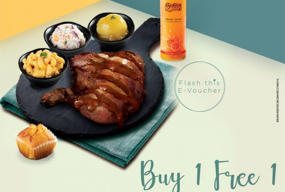 Kenny Rogers ROASTERS Buy 1 Free 1 Oriental BBQ Chicken Meal + Fruit Juice