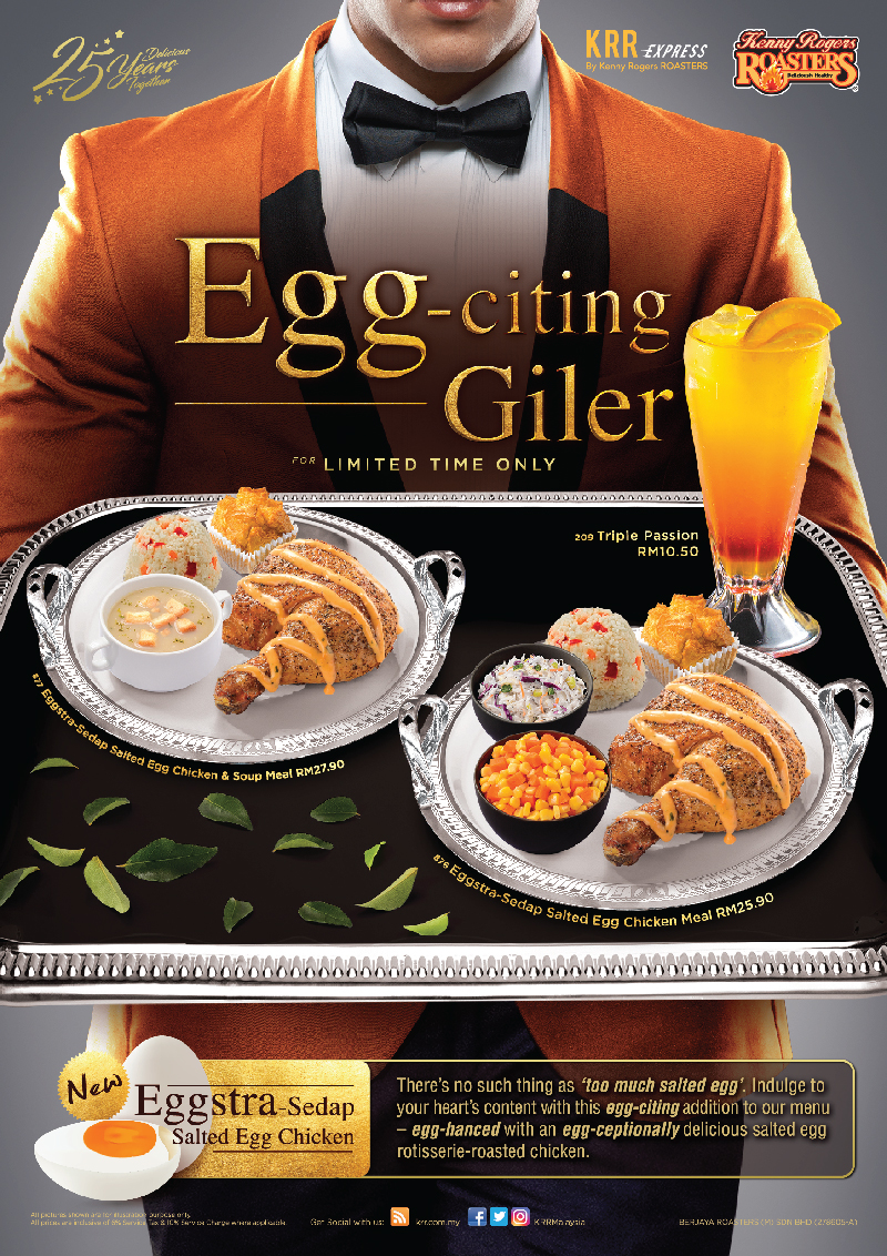 Kenny Rogers ROASTERS Egg-Citing Giler Salted Egg Meal