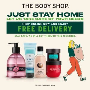 #JustStayAtHome by The Body Shop